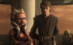 Картинка Skywalker, Jedi, animated series, Звездные войны: войны клонов, STAR WARS: THE CLONE WARS, Lucasfilm, Асока, …