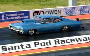 Обои chevrolet, impala ss, мускул кар, drag racing, гонка