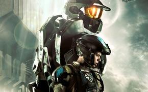 Обои Шеф, Halo 4: Forward Unto Dawn, Джон-117, Sierra-117, Мастер Чиф, Сьерра-117, Старшина, солдат, броня, Джон, ...