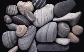 Картинка Камень, черный и белый, галечный