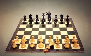 Картинка ситуация, выстрел, шахматы, доска, фигуры