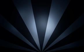 Картинка белый, лучи, линии, абстракция, фон, чёрный