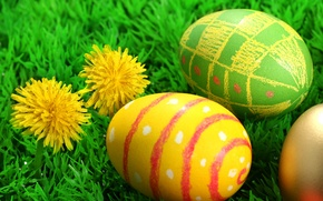 Картинка Пасха, Яйца, Воскресе́ние Христо́во, Pascha, Цветки