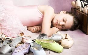 Картинка дети, childhood, children, спящая красавица, sleeping beauty, Ballet shoes, Балет маленькая девочка, ballet little girl, ...