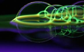 Обои вода, пузыри, фантазия, мыло
