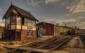 Картинка станция, железная дорога, England, train station