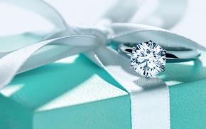 Картинка коробка, кольцо, украшение, diamond, Co, Tiffani&amp