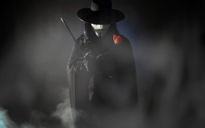Обои v for vendetta, costume, dc comics