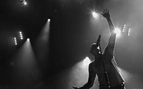 Обои концерт, микрофон, прожекторы, linkin park, честер беннингтон, chester bennington, a thousand suns tour