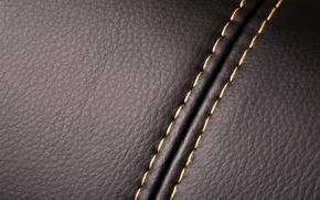 Картинка фон, текстура, кожа, шов, нитки, leather