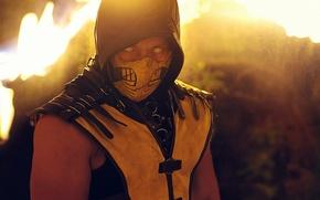 Обои Yellow, Scorpion, Kombat, Mortal, Mask, Cosplay, MKX