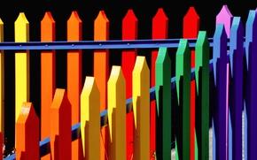 Картинка краски, забор, цвет, текстура