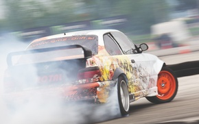 Картинка car, BMW, drift, smoke, photo, race, burnout, e36, MMaglica photo, MMaglica, tire, burn, Šuštaršič