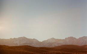Картинка mountains, hill, sunny, peaks