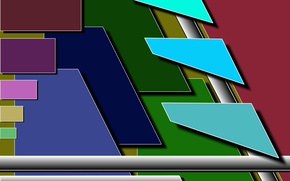 Картинка цвета, абстракт, разные, прямоугольники, трапеции