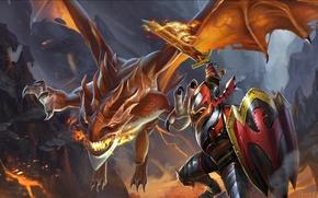 Картинка дракон, рыцарь, dragon, dota2, knight