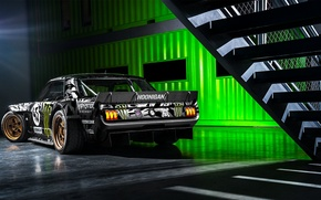Картинка Mustang, Ford, Monster, 1965, RTR, Block, Ken, Gymkhana, Energy, Rear, Hoonicorn, SEVEN, 845 hp