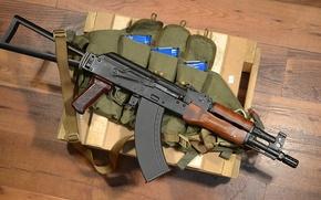 Картинка автомат, ящик, Калашникова, АКС-74