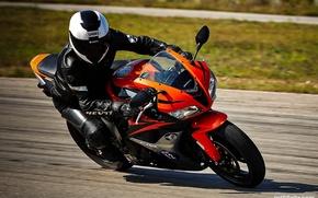 Картинка дорога, пейзаж, мотоциклы, шлем, sport, drift, Honda, honda, Drift, camera, motorcycle, Jet, Sport, jet, Michelin, …