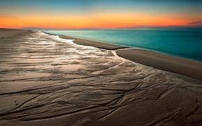 Картинка песок, пляж, небо, горизонт