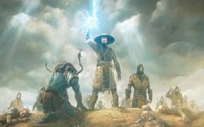 Картинка Mortal Kombat, raiden, warrior, райден, Mortal Kombat X, Kotal Kahn, MK X