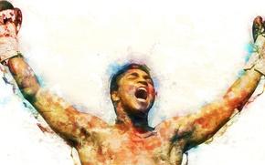 Картинка перчатки, боксёр, Мохаммед Али, Mohamed ali