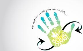 Картинка рука, 5 пальцев, no matter, high five