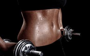 Картинка woman, fitness, training, weights