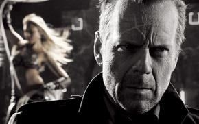 Картинка Jessica Alba, бар, Джессика Альба, Sin City, Брюс Уиллис, Bruce Willis, Город грехов