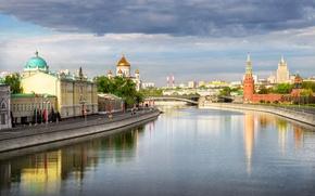 Картинка мост, река, Москва, канал, Россия, Moscow, Rivers