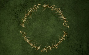 Обои зеленый, круг, властелин колец, кольцо