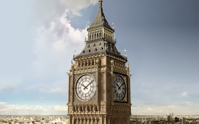 Обои города, англия, башня