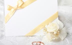 Картинка flowers, открытка, цветочек, обручальные кольца, wedding rings, greeting card