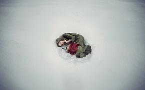 Картинка девушка, снег, роза, ситуация, Personal Space