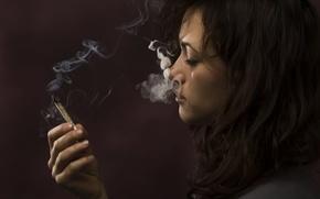 Картинка smoke, woman, marijuana