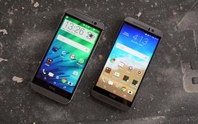 Картинка макро, стиль, One, андроид, HTC, смартфоны
