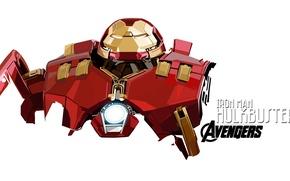 Картинка marvel, iron man, avengers, comic, hulkbuster, age of ultron