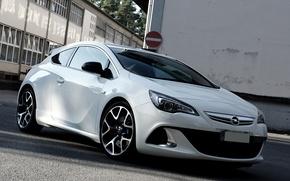 Картинка Opel, White, Astra, Opc