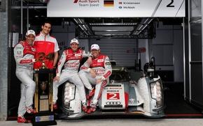 Картинка Audi, победа, Le Mans 24 2013, Kristensen, McNish, Duval