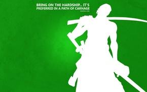 Картинка green, Japan, sword, game, One Piece, Hunter, pirate, anime, katana, sun, man, asian, manga, minimalist, …