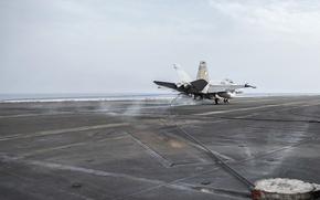 Обои FA-18C Super Hornet, USS Harry S. Truman, U.S. Navy
