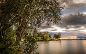 Картинка природа, озеро, вечер