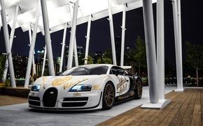 Картинка supercar, Bugatti Veyron, Supersport, hypercar, Pur Blanc, Andrew Link