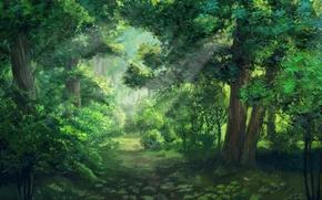Картинка лес, everlasting summer, бесконечное лето, iichan-eroge