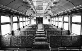 Обои поезд, Черно-белый, train, industrial, B&W, Электричка