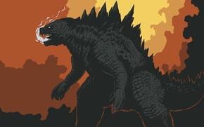Картинка дым, монстр, динозавр, godzilla, годзилла