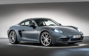 Картинка порше, фон, Cayman, кайман, Porsche, 718, купе