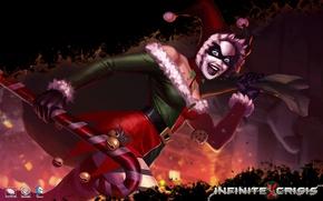 Картинка рождество, костюм, Harley Quinn, Infinite Crisis