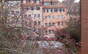 Картинка зима, город, house, Нюрнберг, tees
