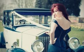 Картинка car, ретро, rolls royce, свадьба, Laura Ruffell